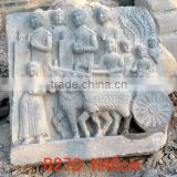 stone wall relief sculpture