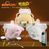Stuff Animals Toys with Speaker! Washable Plush Tare Bear Music Cushion Pillow- CE SGS ROHS                                                                                                         Supplier's Choice