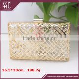 16.5*10cm polished gold box clutch frame with chain loops