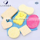 wholesale 2016 new compressed facial sponge Made From Natural Vegetable