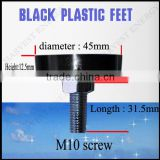 M10 Screw 31.5mm washing machine feet/adjustable furniture feet /Screw Bolt Nut Rubber Plastic feet