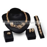 Anniversary Wedding Costume Jewelry Set Twisted Chain Fashion Jewelries For Women