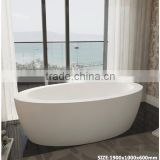 New Design!!!for home or hotel ceramic and artificial stone outdoor bathtub wholesale,resin stone bathroom bathtub