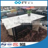 TB 8 seater white top carrara marble table top dining table