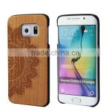 Beautiful Laser Engraved PC+ Cherry Wood Cover For Galaxy S6 Dandelion Engraving for S6 Hoursing for samsung galaxy s6