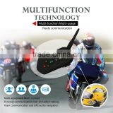 2016 New E6 EJEAS brand 6 riders bt interphone bluetooth helmet interphone handset receiver intercom racing for mobile phone