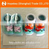 cute birds and pig animal jacquard pattern baby socks