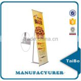 advertising L banner display stand for exhibition show