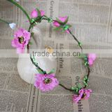 2015new arrival hair flower wreath for girl Festive Decoration