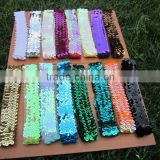 "1"" Fashion Elastic Sequins Headbands Women's Paillette Hair Band for Hair Accessories"