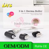 Titanium Micro Needle Roller 180/600/1200 Needles Best Skin DermaRoller for Body and face 3 In 1 Kit Derma Roller
