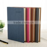 custom printed hardcover notebook, soft leather notebook with ribbon bookmark, cheap PU leather note book a5