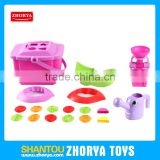 Zhorya children outdoor promotional summer set plastic pink sand beach cart toys for kid