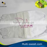 Economy Apiculture Vented Goatskin Beekeeper Protection Clothing Honey Bee Keeper Gloves
