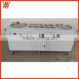 Double Compressor Stainless Steel 110v 220v Electric Fried Yogurt Ice Cream Roll Machine with 10 Toppings