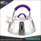 Stainless Steel mirror polished Tea Kettle Flat Bottom Whistling Kettle with Handle
