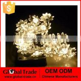 Solar Outdoor Blossom Lotus Flower String Lights 20 LED Solar Powered - for Patio, Gardens, Ouside Wall, Hotel, Home Decor G0070