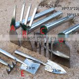 stainless steel garden hand tool set/trowel fork/hoe rake/weeder/pruning shear /scissors tool set