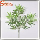 2015 China factory wholesales plastic fake artificial lucky garden bamboo fence branches leaves