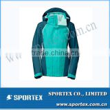 2014 Lastest Fashion Green Jointing Ladies Model Jacket for Ladies