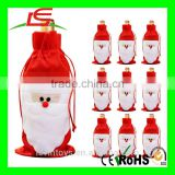 New Year Plush Decoration Santa Claus Christmas Wine Bottle Cover
