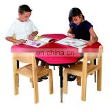 Unique design kindergarten furniture widely used preschool classroom furniture bentwood tables and chairs sets for kids