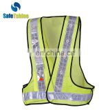 high quality bright warning vest with LED lighting
