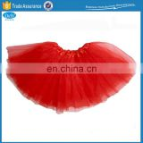 Wholesale Fluffy Red Color Childred Ballet Tutu Skirts
