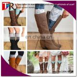 hot sexy women elastic lace boot cuff socks wholesale