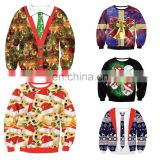 Ugly Sweater Christmas Sweatshirt Wholesale Quilted Pullover Hoodies