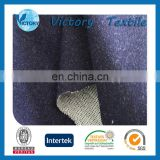 Factory Make-in-order Fashionable 92%Cotton 8%Spandex Indigo Terry Cloth Fabric