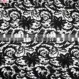 2016 black clor party dress lace\African clothing material lace\Wholeslae wedding guipure lace fabric