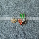 custom 2017 UAE 46th national day hand shaped with crystal souvenir lapel pin badge