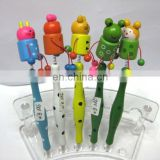 cute kitty wood cartoon ballpoint pen
