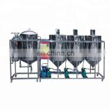 High efficiency small scale palm oil refining machinery/edible oil refining machine/crude palm oil refining mache