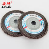 100X16MM abrasive cloth flap disc  60 grit ceramic flap wheel factory