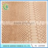 PVC Snake Skin Embossed Synthetic Leather