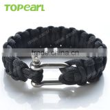 Outdoor Paracord Survival Bracelet Paracord with Stainless Steel Shackle Bracelet MEB212