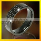 cheap wholesale tungsten band rings engraved ring for man