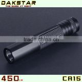 DAKSTAR CR15-2 XP-G R5 450LM 18650 Emergency Rechargeable Aluminum Mini CREE LED Torch Light