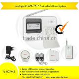 GSM/PSTN mms gsm gsm remote control Auto-Dial home security Alarm System with best price YL-007M2