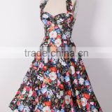 50's Swing Retro Printed Vintage Dress