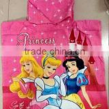 princess Snow White bath towel kids Hoodeed Towel baby Beach Towel baby Girls Cloak bathrobe