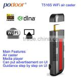 Wi-Fi air caster_T516S, supported Apple & Android 4.2.2 mirror, work for phone/pad/laptop.
