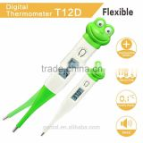 2016 hot sale Digital Baby thermometer cartoon thermometer have hard tip and flexible tip with CE. take care of baby healthy