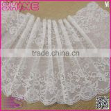 "China Factory Fashion New Design Wide 8.67"" Eslatic White Soft Spandex Nylon Warp Knitted lace wedding dresses"