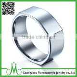 High quality beautiful men ring new design silver finger ring high polishing charm tungsten ring