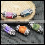 LFD-0042B Wholesale Druzy Agate Drusy Quartz Stone With Pave Rhinestone Crystal Connectors Beads Jewelry Making