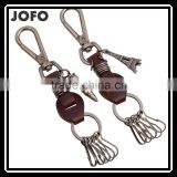 High Quality Hot Sale Lovely Genuine Handmade Leather Keychain With Key Ring Leather Keychain