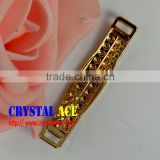 Wholesale rhinestone belt buckle, bikini gold connector, chain strass bikini connector for dicoration